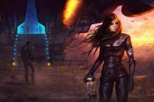 sci fi, Futuristic, Woman, Woman, Girl, Girls, Art, Artwork