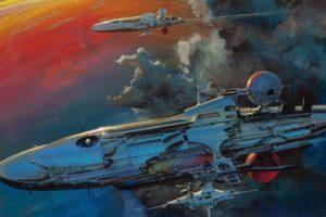 spaceship, Ship, Futuristic, Space, Art, Artwork