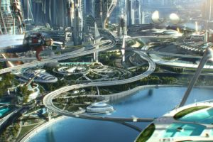 tomorrowland, Action, Adventure, Mystery, Sci fi, Fantasy, Disney, 1tomorrow, City, Cities, Astronaut