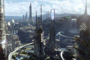tomorrowland, Action, Adventure, Mystery, Sci fi, Fantasy, Disney, 1tomorrow, City, Cities