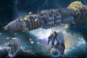 abstracto, Sci fi, Naves, Espaciales, Espacio