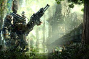 titanfall, Sci fi, Mecha, Robot, Futuristic, Mecha, Warrior