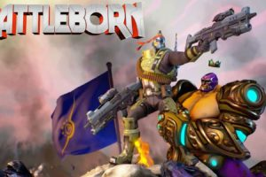 battleborn, Shooter, Rpg, Fantasy, Sci fi, Futuristic, Battle, Warrior, Action, Fighting, Mecha, Robot, Arena, War, Poster