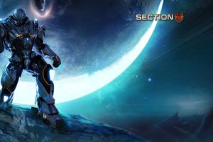 section, 8, Action, Fighting, Futuristic, Sci fi, Warrior, Shooter, 1sect8, Fps, Armor, Suit, Poster