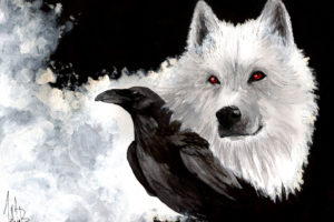 wolves, Crows, Glance, Animals
