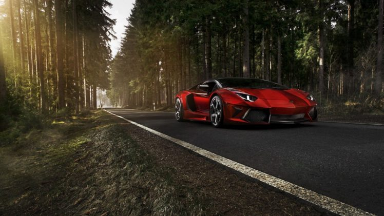 forests, Cars, Roads, Vehicles, Tuning, Lamborghini, Aventador, Red, Cars, Mansory, Tuned, Lamborghini, Aventador, Mansory HD Wallpaper Desktop Background