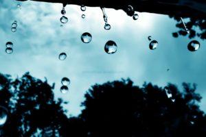 cyan, Falling, Water