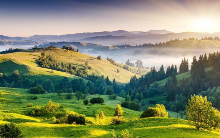 nature, Mountain, Forest, Landscape, Fog, Lake, Ultrahd, 4k, Wallpaper HD Wallpaper Desktop Background