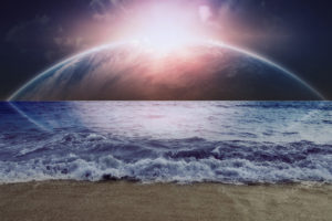 beaches, Ocean, Waves, Dream, Sci, Fi, Planets, Moons, Sky, Sun, Manip