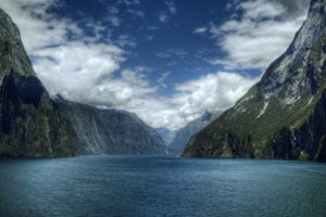 water, Mountains, Clouds, Landscapes, Nature, Skylines, Lakes