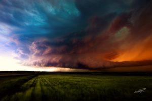 canada, Alberta, Canada, Storm, Sky, Clouds, Field, Grass, Nature, Landscape, Rain