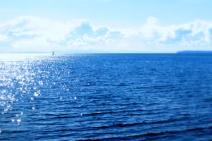 sea, Boat, Blue, Sky, Clouds, Sunny, Summer, Landscapes, Nature, Earth, Ocean