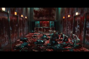the cabin in the woods, Dark, Horror, Cabin, Woods, Blood, Zombie