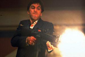 scarface, Crime, Drama, Movie, Film, Weapon, Gun, Battle, Dark, Blood