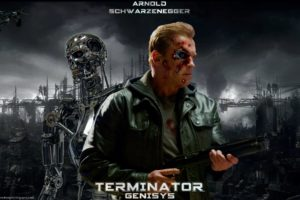 terminator, Genisys, Sci fi, Futuristic, Action, Fighting, Warrior, Robot, Cyborg, 1genisys, Poster