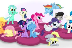fluttershy, Ponies, Rainbow, Dash, Derpy, Hooves, Twilight, Sparkle, Rarity, Vinyl, Scratch, Dj, Pon 3, Octavia, Pinkie, Pie, Applejack, Lyra, Bon, Bon, The, Great, And, Powerful, Trixie, My, Little, Pony , Frie