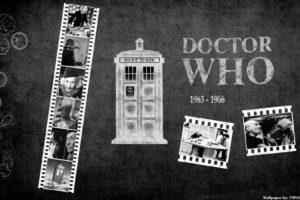 tardis, Grayscale, Doctor, Who, William, Hartnell, First, Doctor