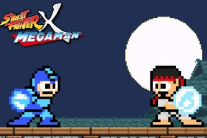 video, Games, Street, Fighter, Ryu, Capcom, Pixel, Art, Rockman, Megaman