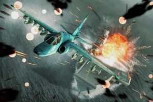 ace, Combat, Game, Jet, Airplane, Aircraft, Fighter, Plane, Military, Battle, Explosion, Fire, Ship, Boat, Carrier, Hg