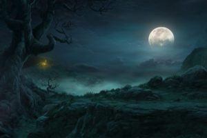 video, Games, Landscapes, Moon, Artwork, Diablo, Iii