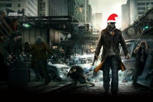 watch, Dogs, Futuristic, Cyberpunk, Shooter, Warrior, Action, Fighting, Sci fi, Poster, Christmas