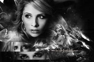 buffy, Vampire, Slayer, Supernatural, Dark, Horror, Thriller, Series, Action, Drama, Fantasy, Sarah, Michelle, Gellar, Poster