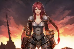 women, Video, Games, Dragons, Redheads, League, Of, Legends, Armor, Red, Eyes, Shyvana