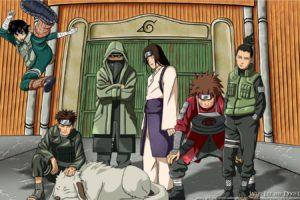 naruto , Shippuden, Shikamaru, Nara, Anime, Manga, Rock, Lee, Hyuuga, Neji, Choji, Akimichi, Akamaru, Aburame, Shino, Kiba, Inuzuka