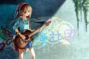 heterochromia, Guitars, Anime, Anime, Girls, Original, Characters