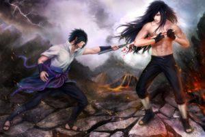 art, Naruto, Sasuke, Uchiha, Madara, Uchiha, Battle