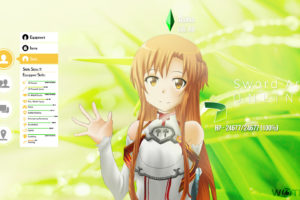 brown, Hair, Long, Hair, Sword, Art, Online, Watermark, Wes2299, Yuuki, Asuna