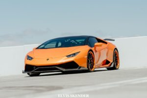 , Orange, Lamborghini, Huracan, Cars