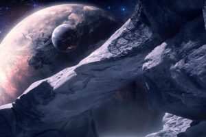 ice, Planet, Star, Art, Satellite, Arch, Space