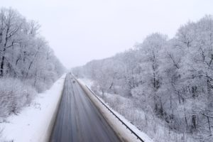 winter, Road, Cars, Path, Snow, Trees, Forest