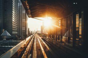 city, Bridge, Road, Building, Sunset, Japan, Sunlight
