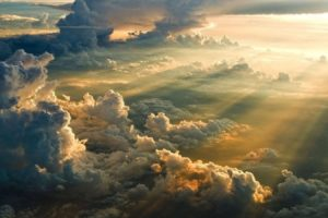 mist, Nature, Landscape, Clouds, Sun, Rays, Sunset, Sunlight, Aerial, View, Divinity