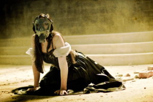 apocalyptic, Gas, Mask, Mood, Horror, Dark, Anarchy, Girl, Girls, Women