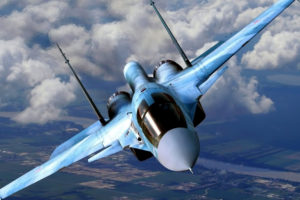aircraft, Su 34, Clouds, Flying, Fighter, Jet, Jets, Military, Russian