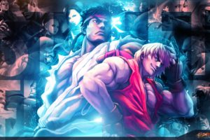 video, Games, Street, Fighter, Ryu, Artwork, Ken, Versus, Fighting, Street, Fighter, X, Tekken