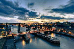 tyne, Bridge, Newcastle, England, River, Tyne, Night, City, Bridge, River