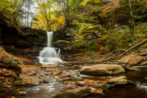 ricketts, Glen, State, Park, Pennsylvania, Pennsylvania, Waterfall, River, Forest, Autumn, Stones
