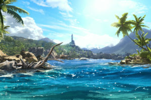 far, Cry, 3, Sea, Water, Tropics, Palma, Games, Fantasy, Landscape