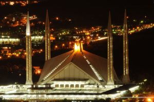 night, Architecture, Buildings, Islam, Mosques, Faisal, Mosque