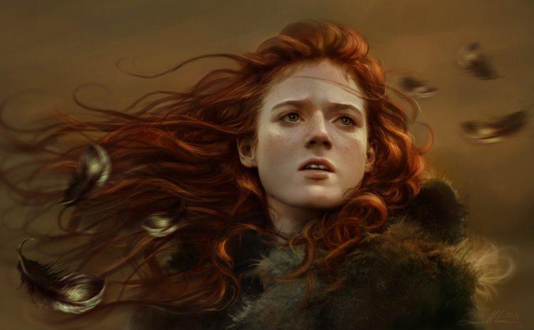face, Game, Of, Thrones, Girl, Ygritte, Art, Fantasy, Mood, Redhead, Autumn,  1 HD Wallpaper Desktop Background