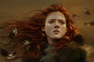 face, Game, Of, Thrones, Girl, Ygritte, Art, Fantasy, Mood, Redhead, Autumn,  1