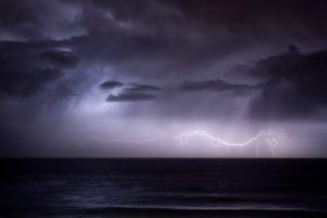 ocean, Clouds, Nature, Seas, Dark, Rain, Storm