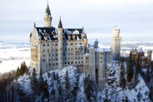 landscapes, Winter, Snow, Castles, Architecture, Buildings, Bavaria, Castle