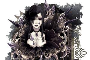 pixiv, Net, Sword regalia, Pixiv fantasia, Fantasia, Pixiv, Regalia, Anime, Women, Females, Girls, Elves, Fantasy, Gothic, Artistic, Sexy, Sensual