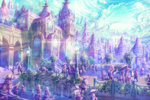anime, Artistic, Cities, Fantasy, Soft, Castles, Landscapes, Places, Magical