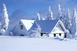 landscapes, Nature, Wintermsnow, Seasons, Architecture, Houses, White